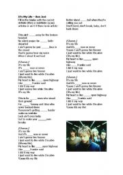 English Worksheet: Bon Jovi -It�s My Lfe