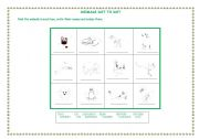 English Worksheet: ANIMALS DOT TO DOT