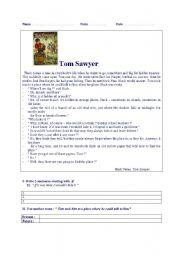 TEST ( reading skill) TOM SAWYER (level A2-B1)