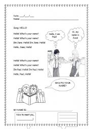 English Worksheets: Greetings - Introducing yourself