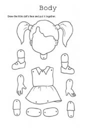English Worksheets: doll puppet