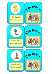 English Worksheets: ANIMALS - I�m the... (2/7)