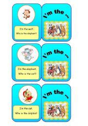 English Worksheets: ANIMALS - I�m the... (3/7)