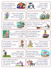 English Worksheet: Present Simple and Present Continuous Speaking