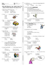 English Worksheet: 6th grade quiz