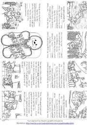 English Worksheet: The Gingerbread Man (Story Mini Book)