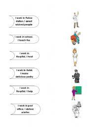 English Worksheets: matcing