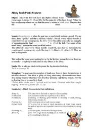 English Worksheets: Abbey Tomb by Patricia Beer