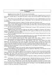 English Worksheets: Summary Mandela