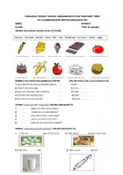 English Worksheet: 6th grade exam
