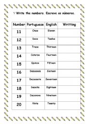 Learning English Worksheets english teaching worksheets: numbers