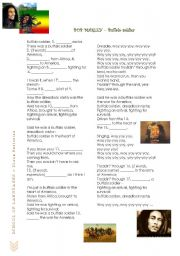 English Worksheet: BOB MARLEY - Buffalo Soldier
