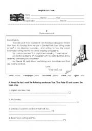 English Worksheets: Part A: Reading Comprehension Test
