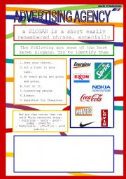 English Worksheet: ADVERTISING AGENCY
