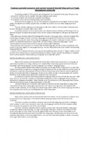 English Worksheets: bilingualism