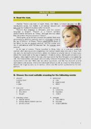 English Worksheets:  Film Stars