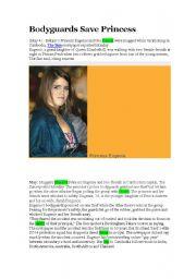 English Worksheets: English Princess rescued