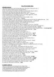 English worksheet: rewrite sentences