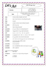 English worksheet: Drama