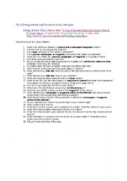 English Worksheets: Citation Analysis