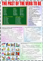 English Worksheet: THE PAST OF THE VERB TO BE