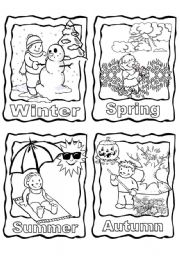 English Worksheet: The 4 seasons