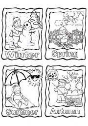 English Worksheet: The 4 seasons