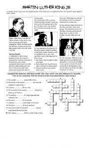 English Worksheets: Martin L.King . law
