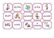 English Worksheets: SPORTS with DO, GO or PLAY MEMO CARDS part 1 of 2