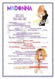 English Worksheet: Vogue - Madonna