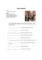 English Worksheets: Movie:  Unbreakable Study Guide