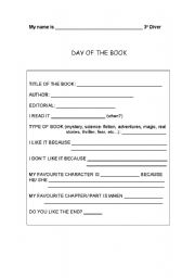 English Worksheet: Day of the book