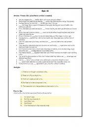 English Worksheets: Qioz 46-50