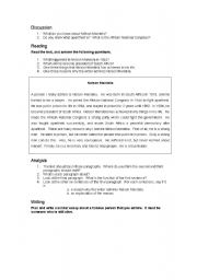 English Worksheets: Writing about someone you admire