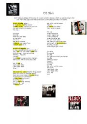 English Worksheets: U2 One