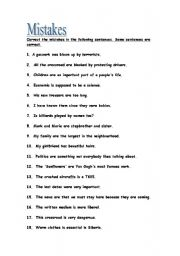 First Grade Correct The Sentence Worksheets for all | Download and ...