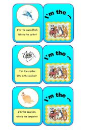 English Worksheets: ANIMALS - I�m the... (5/7)