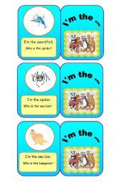 English Worksheets: ANIMALS - I�m the... (6/7)