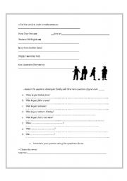 English Worksheets: wh-questions with the verb to be