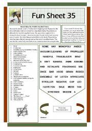English Worksheets: Fun Sheet 35