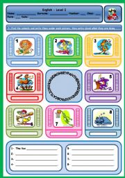 English Worksheet: WHAT ARE THE ANIMALS DOING?