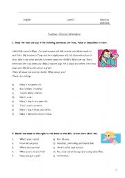 English Worksheets: Personal ID