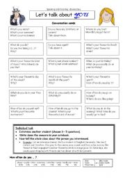 English Worksheet: Let�s talk about YOU