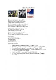 English Worksheets: PINK FLOYD - Time