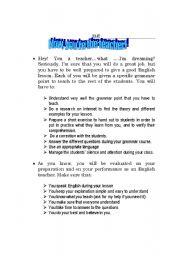English Worksheets: Mini-Teacher