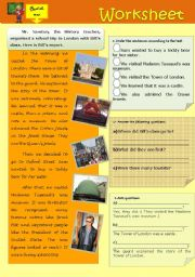 Reading and comprehending-school trip-Past Simple