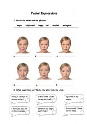 Worksheets Identifying Emotions Worksheet english teaching worksheets facial expressions expressions