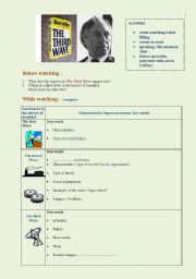 English Worksheets: The third wave 2   (2 pages)