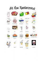 Restaurant vocab + activity - ESL worksheet by jen6470