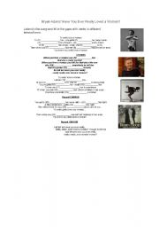 English Worksheets: BRYAN ADAMS - Have You Ever Really Loved A Woman